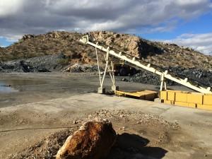 2 Ore loading conveyor at pilot plant